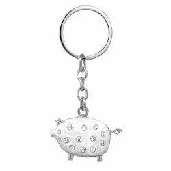 Piggy Enameled Baby Keychain