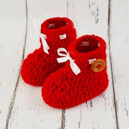 d541c7ea1fbae Crochet Baby Booties - Purple Crochet Baby Booties Manufacturer from ...