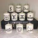 AuraDecor Printed Pillar Candles