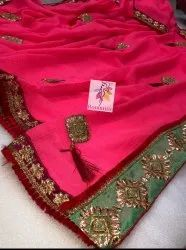 Casual Wear Designer Ladies Chiffon Saree with Blouse Piece, Packaging Type: Plastic Bag