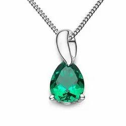 Natural Emerald Sapphire Pendant
