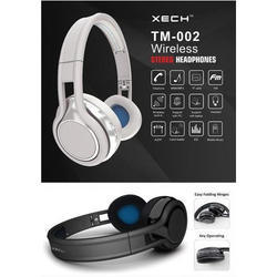 White and Black Xech Wireless Stereo Headphone
