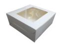 White Cake Box with Window 8x8x4