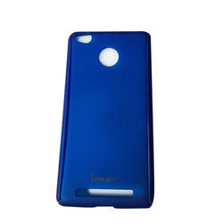Blue Plastic Micromax Tempered With Mobile Cover