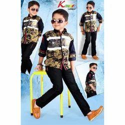 Multicolor Codroy Kids Stylish Baba Suit