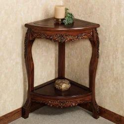 Sheesham Wood Woods Modern Corner Table-UH-COR-008, For Home