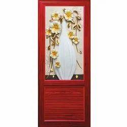 Red Solid PVC Room Door