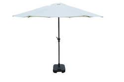 Patio Umbrella-Center Pole-2.7M-White