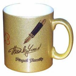 Golden Printed Coffee Mug