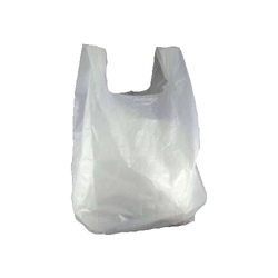 White Plain Plastic Carry Bag, Usage/Application: Grocery