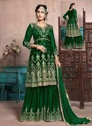 Eid Special Georgette Satin Sharara Suits