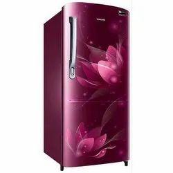Stainless Steel Electricity Samsung Single Door Refrigerator, Top Freezer, Capacity: 185 Liter