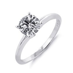 Real Round Solitaire Diamond Ring