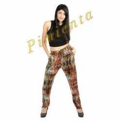 Polyester Digital Printed Ladies Harem Pants