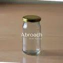 90 Piece Clear 200ml Glass Pickle Jar, Grade: Food Grade