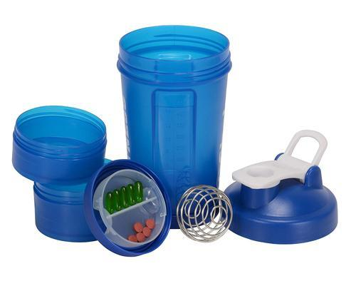 I Shake Easy Stack Blue Shaker Bottles, Capacity: 500 Ml, Packaging Type: Carton Package