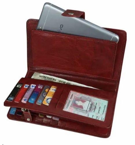 Multi Pocket Leather Wallet