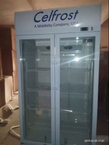 White Celfrost Double Door Visi Cooler (FKG-730 DD), Capacity: 690 L, No. of Baskets/Shelves: 4+4, Number Of Doors: 2