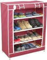 Plastic Collapsible 4 Layer Shoe Rack