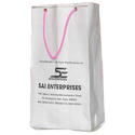 White Printed Paper Carry Bag, For Shopping, Capacity: 2kg