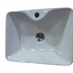 Plain Ceramic Wash Basin for Bathroom Fitting
