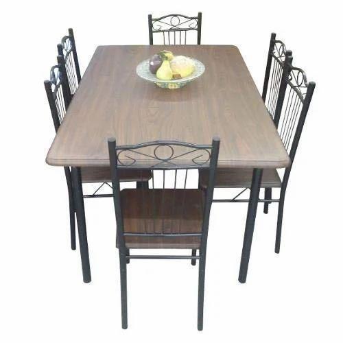 Decora Black Iron Dining Set Rs 8500, Wood And Iron Dining Room Set