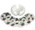 White Marble Coaster set with butterfly design