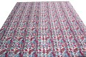 Indian Hand Block Print Cotton Kantha Quilt Blanket Bedspread Throw King Size