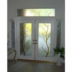 Etched Door Glass, Thickness: 15 Mm