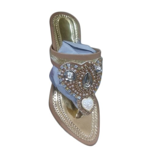 Wedding Wear Ladies Designer Beaded Bridal Slipper Size 36 41