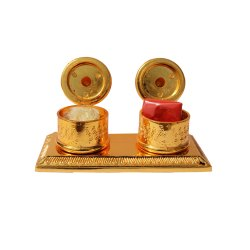 AJN-90 Brass Kumkum and Rice Holder