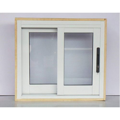 Modern Powder Coated Two Track Aluminium Sliding Window, for Residential