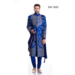 Diwan Saheb SW-1820 Royal Blue Wedding Sherwani