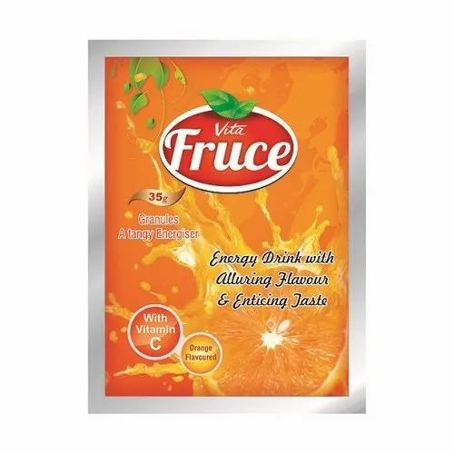 Orange Vita Fruce Energy Drink, Packaging Type: Pouches, Packaging Size: 35 g