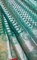 Exclusive Collection Box Design Litchi Silk With Zari Work Saree