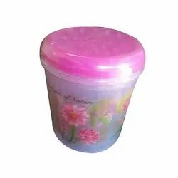 Plastic Kitchen Flower Print Container