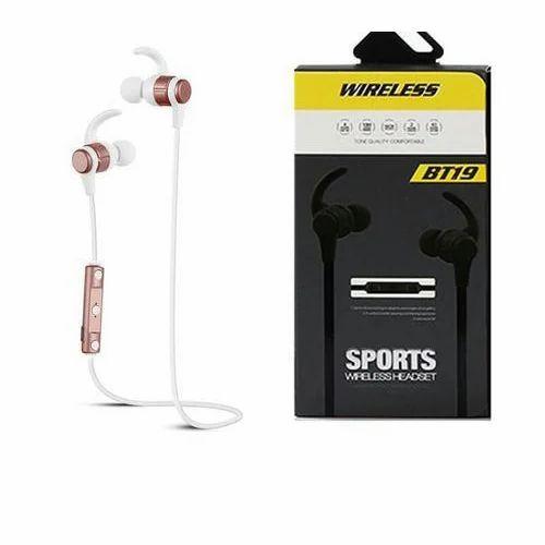 71e6a8c2341 Black BT19 Sports Wireless Bluetooth Headset, Rs 400 /piece   ID ...