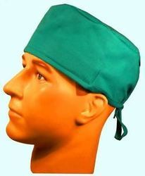 Green Cotton Surgical Cap, For Laboratories
