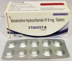 Betahistine Hydrochloride IP 8mg Tab