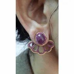 Silver Ear Cuff Earring