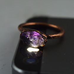 Raw Amethyst Gemstone Rings