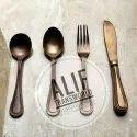 Alif Transworld Pure Brass Antique Finish Cutlery sets