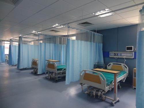 Hospital Curtain Track System लाइफ लाइन कॉटन का हॉस्पिटल