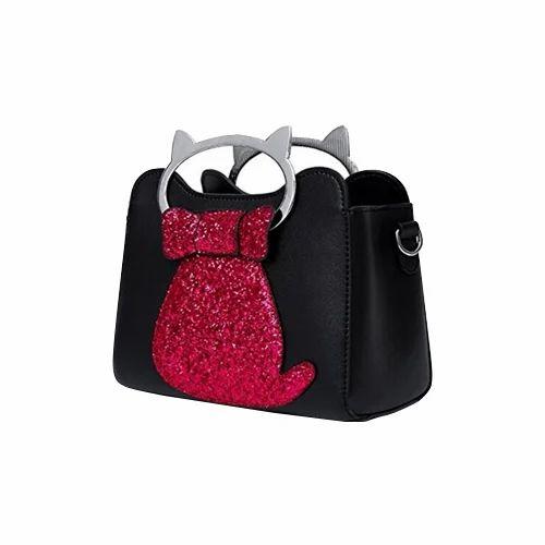 66f723aeedc92 Vismiintrend Black And Pink Ladies Black Pink Hand Bag, Rs 1499 ...