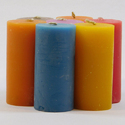 Colored Plain Pillar Candles