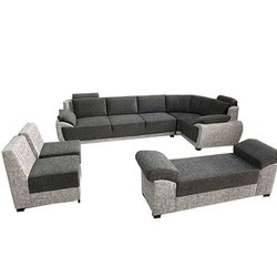 Suede Fabric 8 Seater Sofa Set