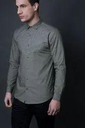 Designer Pista Full Sleeve Men Casual Cotton Shirt