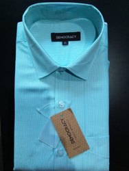 Democracy Mens Slim Fit Stripes Apparels Cotton Shirt
