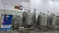 Milk Process Plant Semi Automatic 500 Ltr