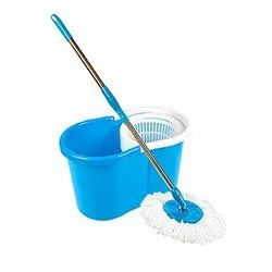 Super Easy Torsion Power Household Use Plastic Mop Bucket 13 Litre Large Mop Bucket with Wringer in Assorted Colours